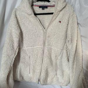 Tommy Hilfiger Faux Fur White Jacket